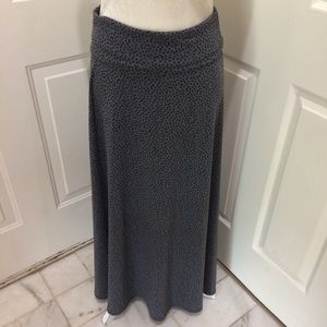 LulaRoe | Gray Black Polka Dot Maxi Skirt Medium